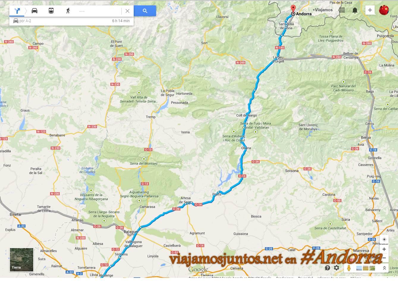 Nuestro acceso favorito a Andorra; como llegar a Andorra desde Madrid por carreteras gratuitas y cómodas