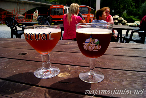 Omnipresentes cervezas de Bélgica. Flandes, Antwerpen, Brujas, Ghante