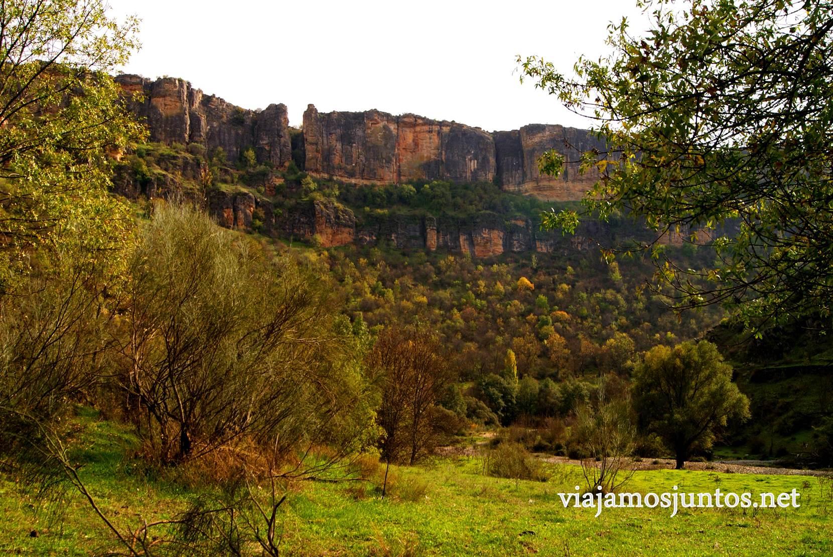 Ruta a las Cárcavas, Patones, Madrid; senderismo por sitios singulares de la Comunidad de Madrid; el paredón El Pontón de la Oliva