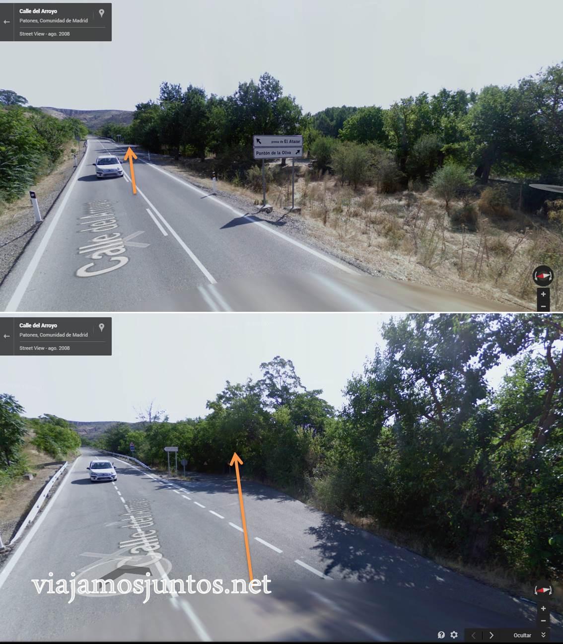 Ruta a las Cárcavas, Patones, Madrid; senderismo por sitios singulares de la Comunidad de Madrid; parking de inicio