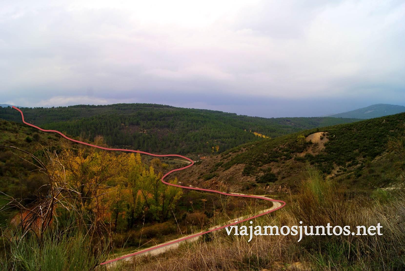 Ruta a las Cárcavas, Patones, Madrid; senderismo por sitios singulares de la Comunidad de Madrid; dirección