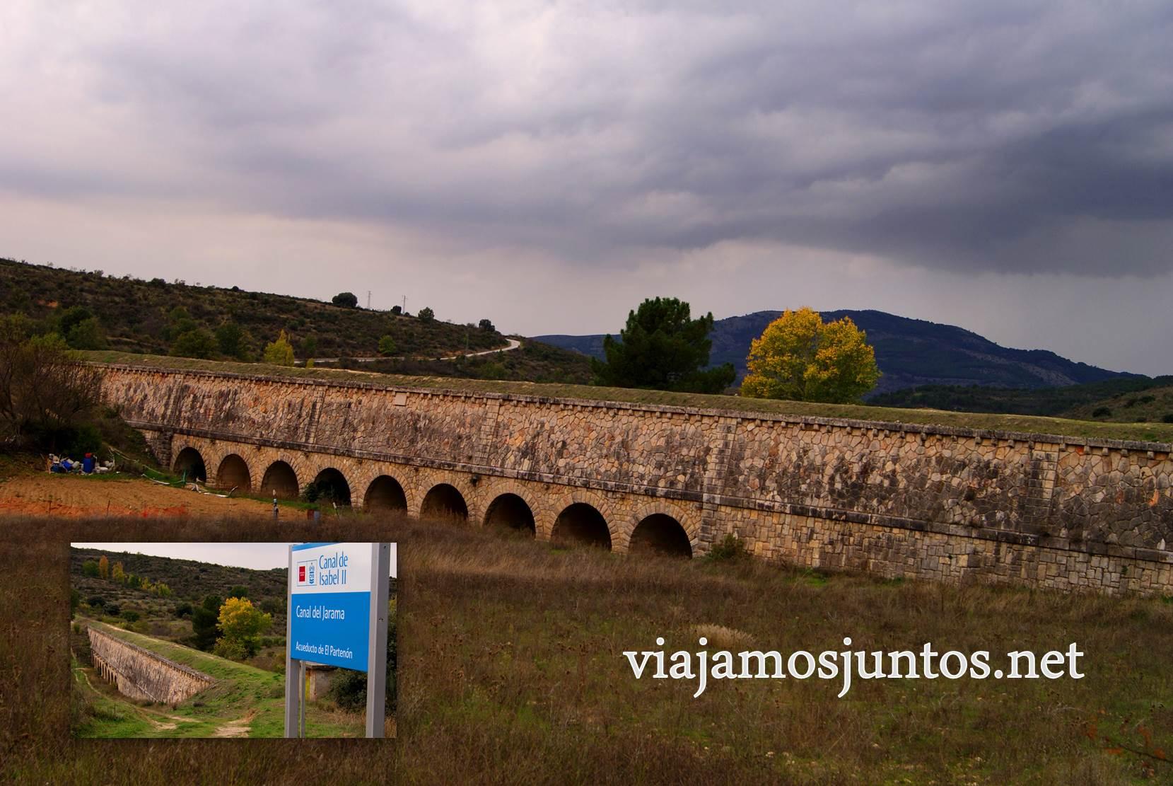 Ruta a las Cárcavas, Patones, Madrid; senderismo por sitios singulares de la Comunidad de Madrid; el acueducto romano