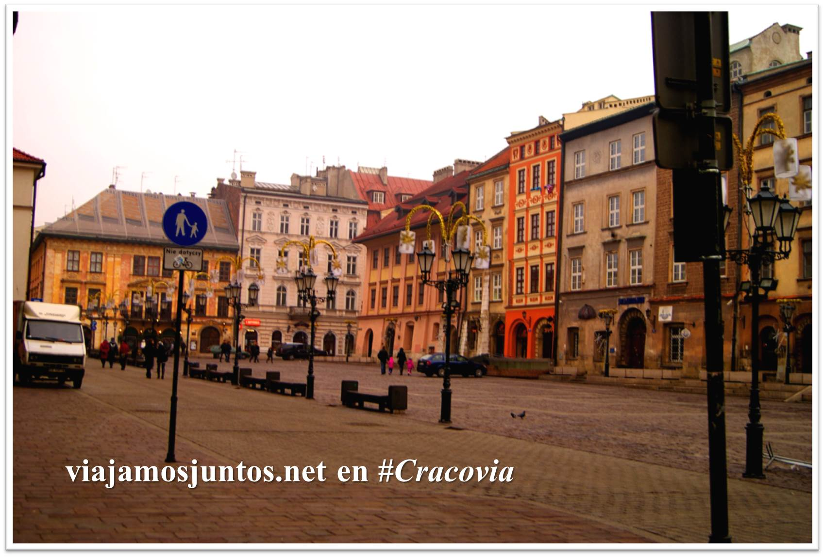 La calle Grodska, donde está el hostal Good-bye Lenin. Cracovia, Polonia