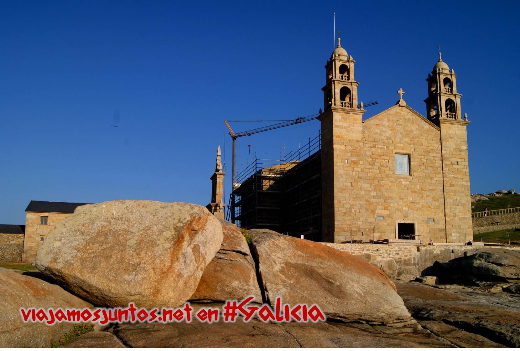 Cabo de Muxia, Cabo de Barca, Costa da Morte, Galicia; Iglesia María da Barca