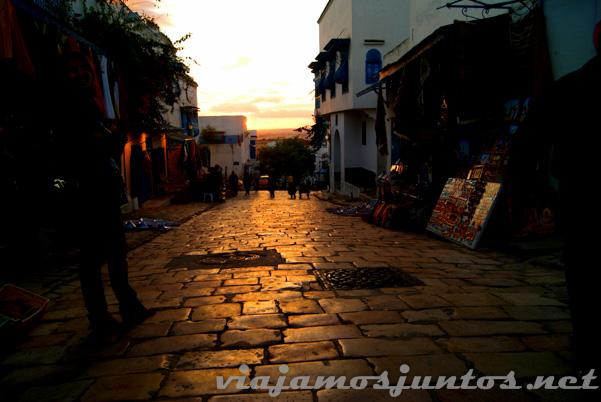 Atardecer en Sidi bou Said, Túnez