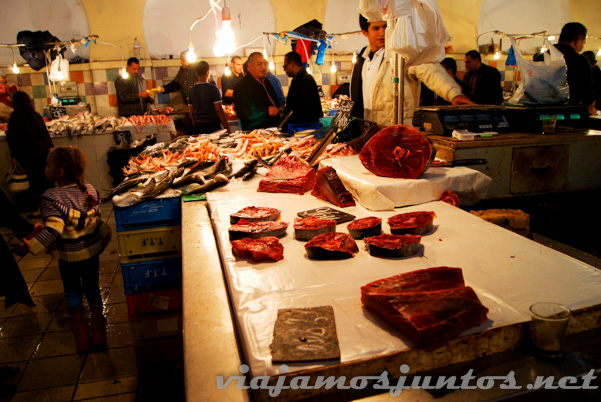 Mercado de Túnez: carne