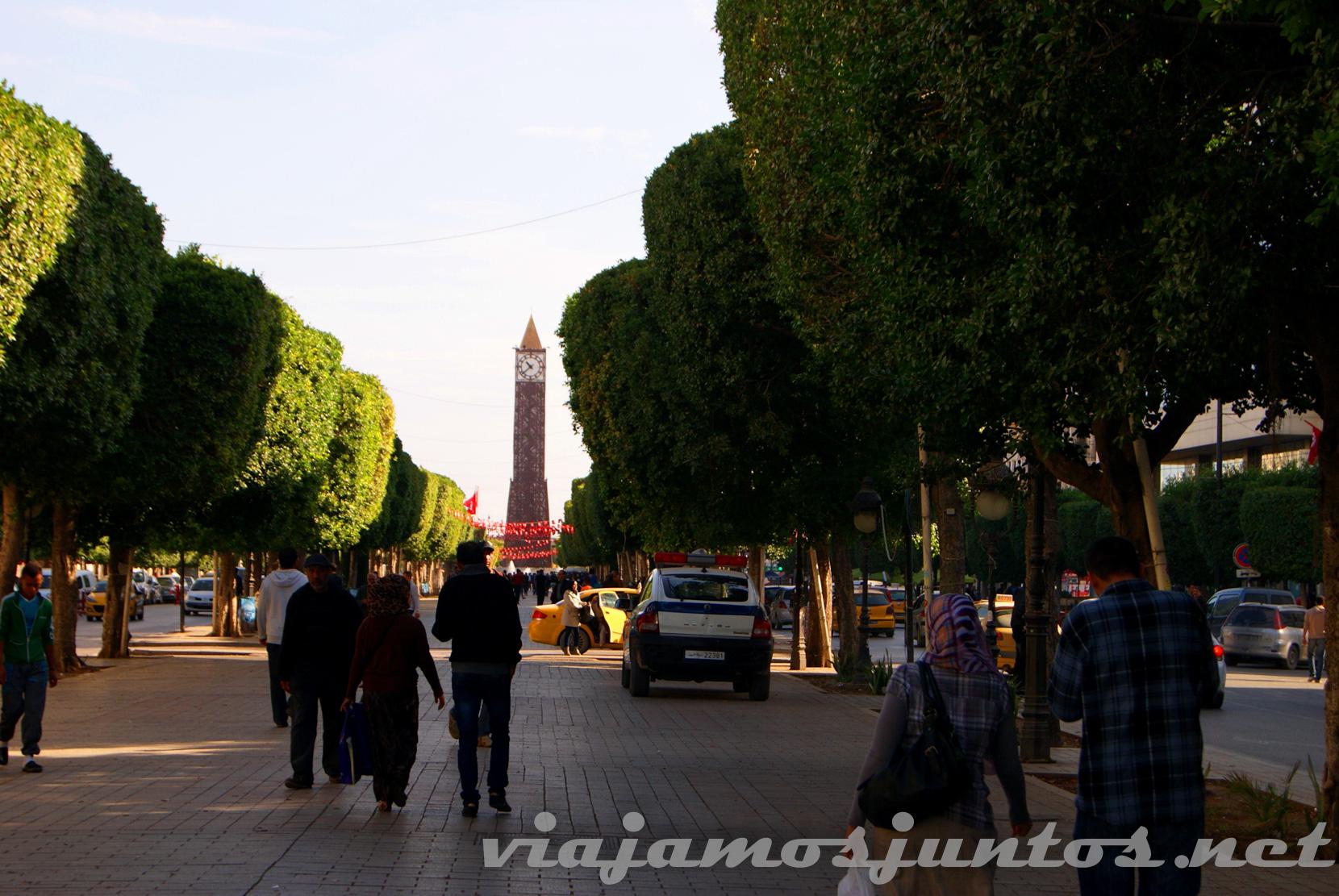 Avenida Habib Bourguiba, Túnez