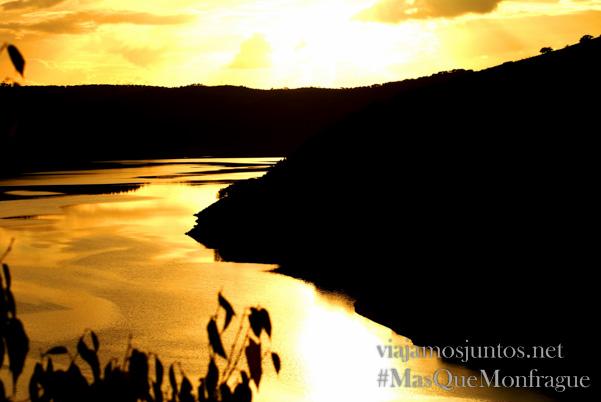 Puesta del sol en el Salto del Gitano, Parque Nacional de Monfragüe y la Reserva de la Biosfera de Monfragüe, Extremadura