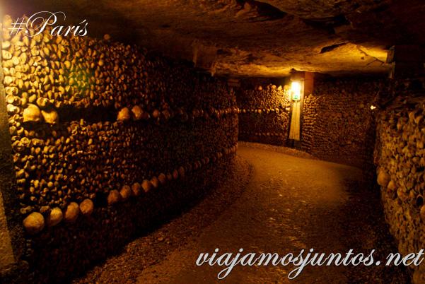 Los túneles del osario. París, Francia. Las Catacumbas de París