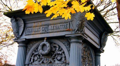 Capillas de colores. Cementerios de París, Montmarte. Francia