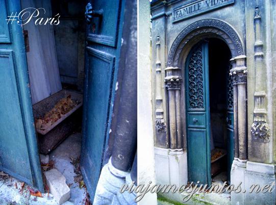 """""""Casas"""" de gatos en los cementerios. Cementerios de París, Pere Lachaise. Francia"""