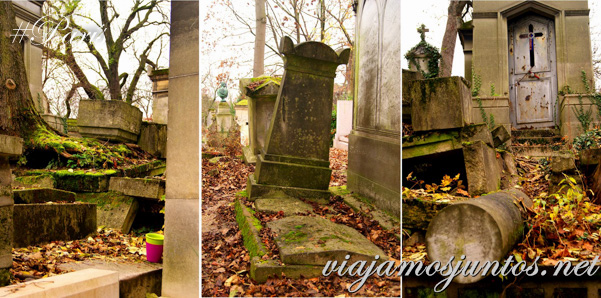Las divisiones del cementerio Pere Lachaise. Cementerios de París, Pere Lachaise. Francia