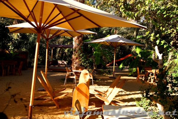 Creo que nos merecemos un descansito en el lounge bar del Oasis de Mides. Tozeur, el Sur de Túnez.