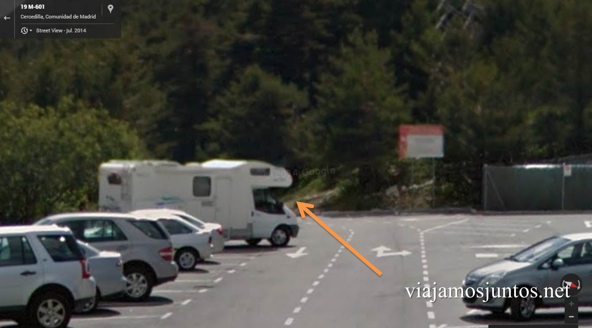 Comienzo de la ruta en el parking, ruta circular de Siete Picos, Parque Nacional Sierra de Guadarrama, Madrid, Castilla y León