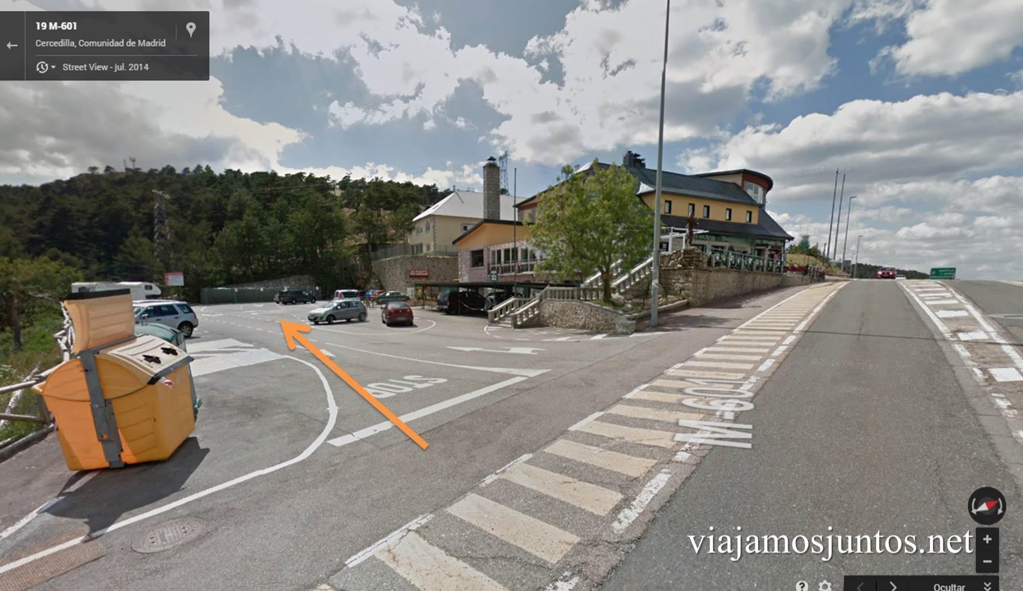 Parking, ruta circular de Siete Picos, Parque Nacional Sierra de Guadarrama, Madrid, Castilla y León