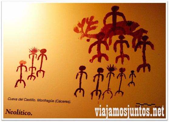 Dibujos primitivos. Arte Rupestre de Monfragüe