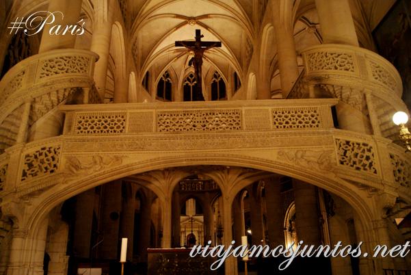 Coro Alto. Iglesia de Saint Entienne du Mond, París, Francia.