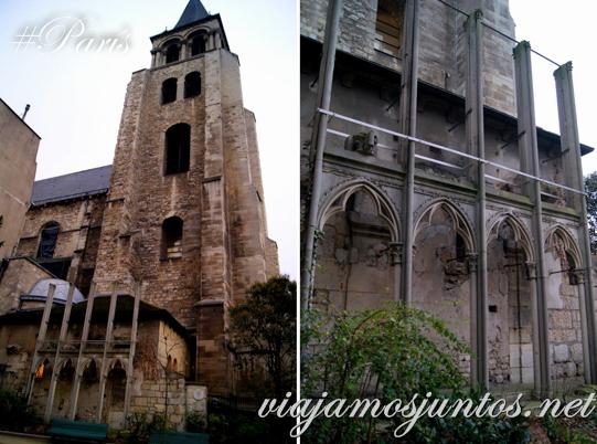 Iglesia de Saint Germain des Prés, París, Francia.
