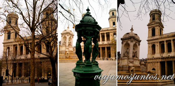 Exterior. Iglesia de Saint Sulpice, París, Francia.