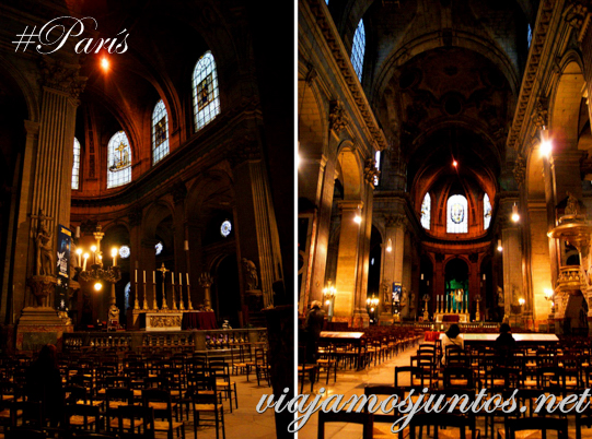 Interior. Iglesia de Saint Sulpice, París, Francia.