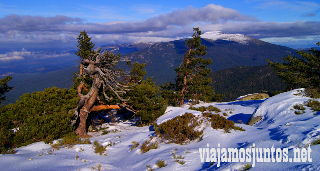 Paisajes. Ruta cirular de Siete Picos, Sierra de Guadarrama, Parque Nacional Guadarrama, Madrid y Castilla y León