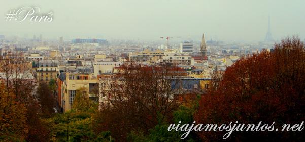 Vistas de París desde el parque París, Francia. Que ver y que hacer