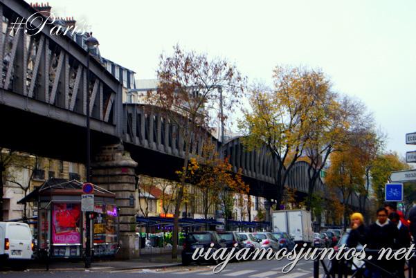 La vías de tren encima de mi cabeza... París, Francia. Que ver y que hacer