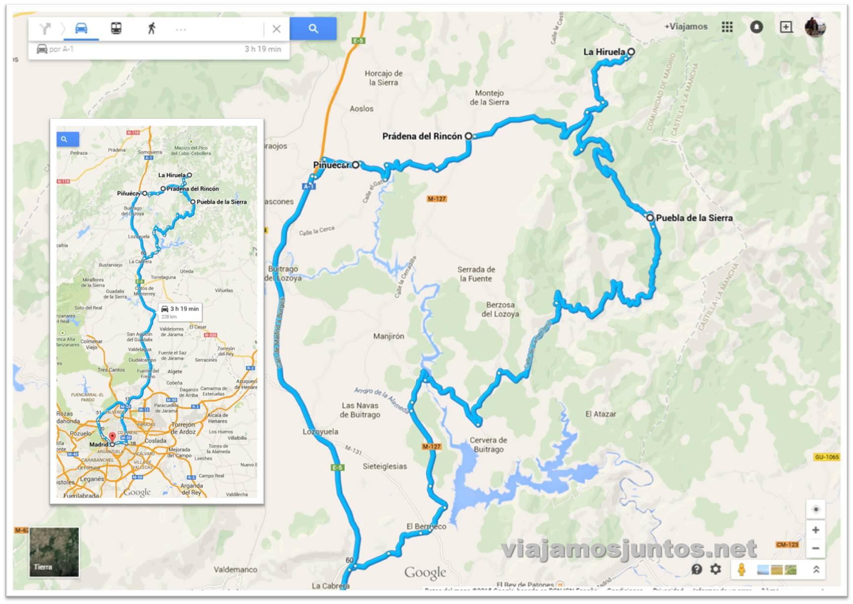 Nuestra ruta por la Sierra Norte