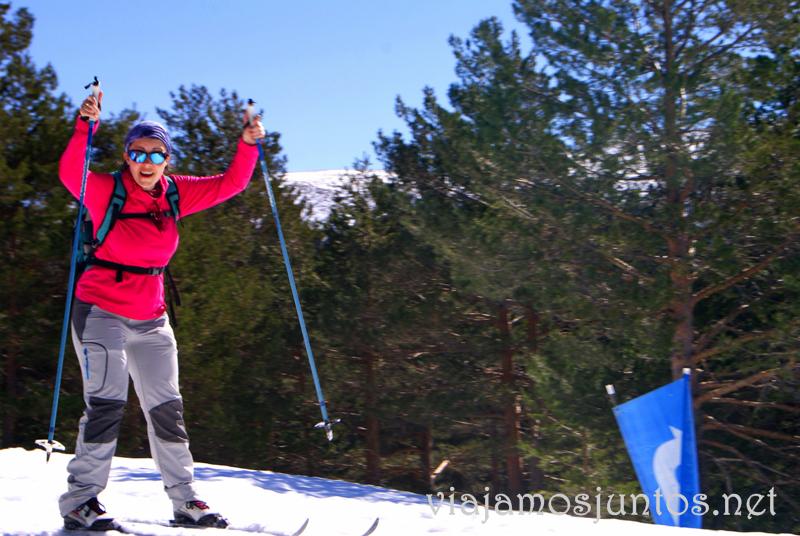 La cara de felicidad!!!! Esquí de fondo durante #MadTBNieve, @MadridTB Madrid Travel Bloggers en Parque Nacional de Guadarrama