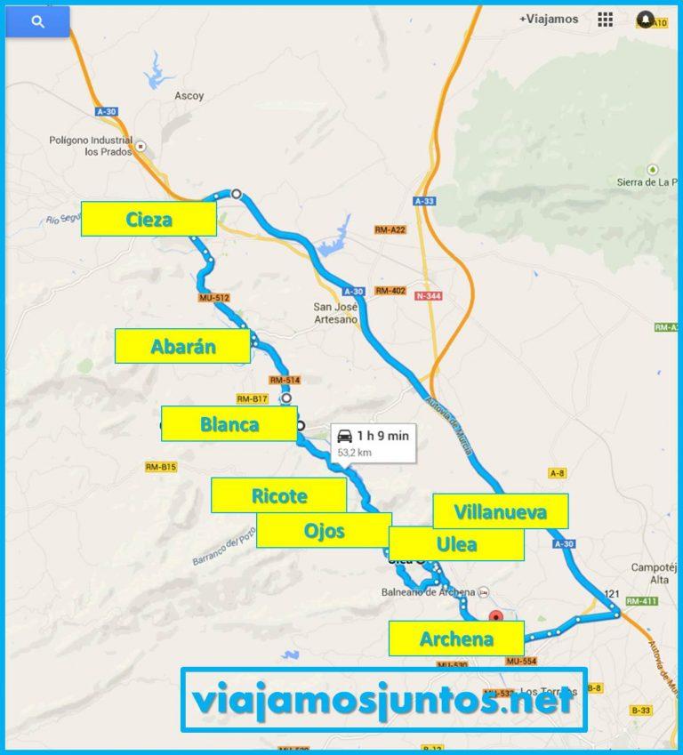 Nuestra ruta por el Valle de Ricote
