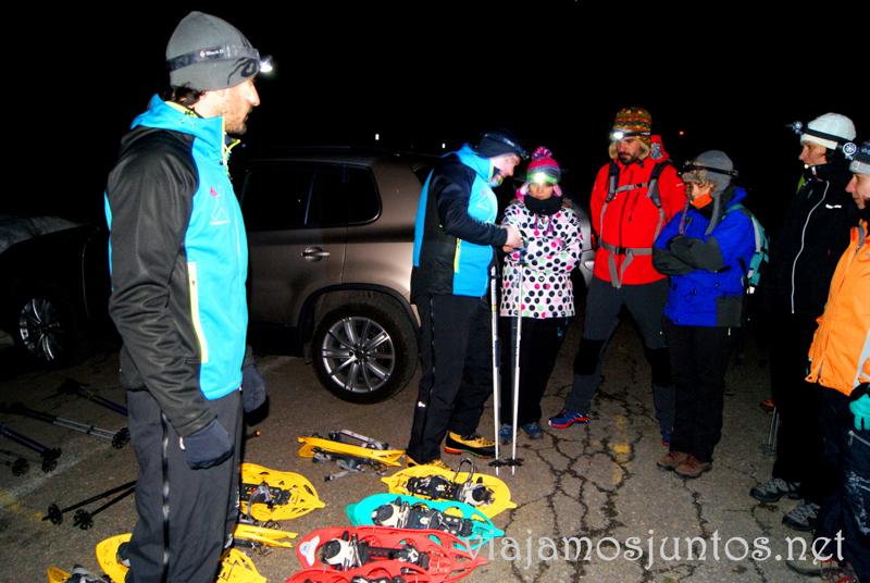 Introducción a la ruta con raquetas de nieve Que hacer en la Sierra de Guadarrama, donde alojarse y comer