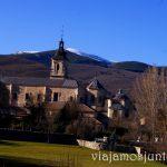 El Monasterio El Paular con la Sierra Guadarrama de fondo Que hacer en la Sierra de Guadarrama, donde alojarse y comer