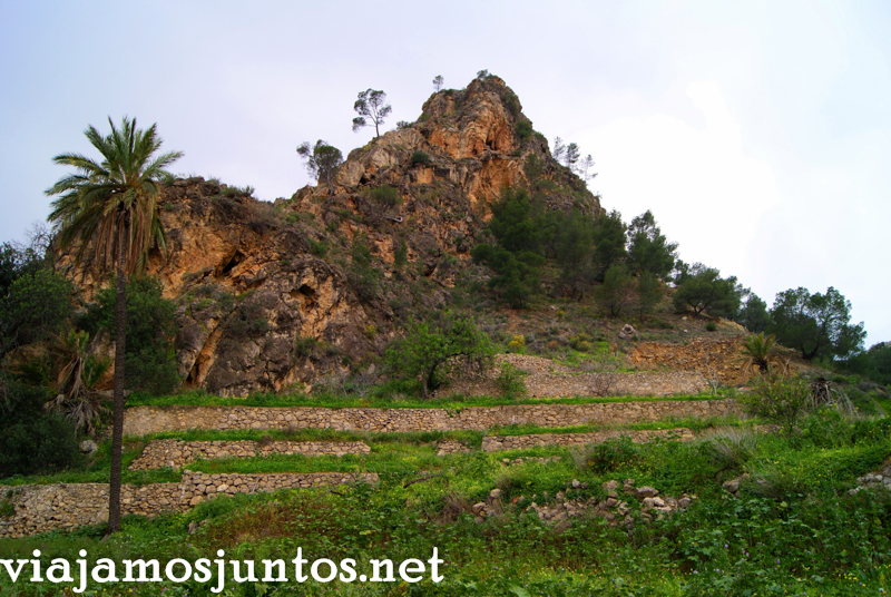 Terrazas de hortalizas, Ojós Ruta en coche por el Valle de Ricote, Murcia. Pasado islámico