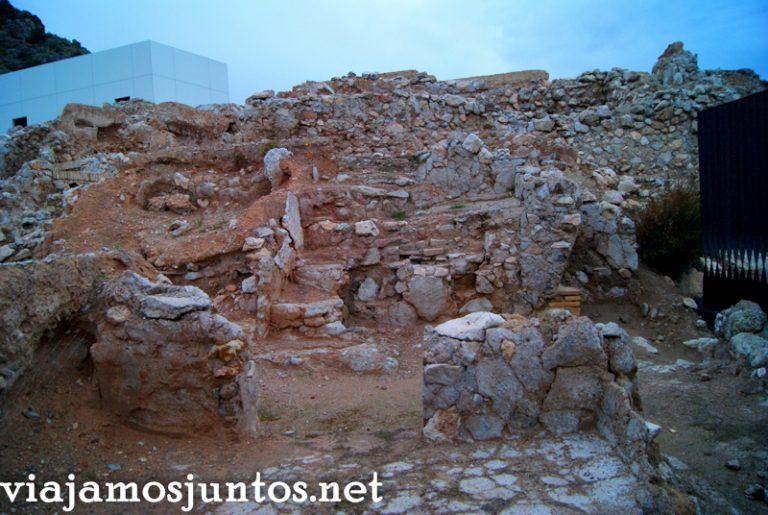 Despoblado árabe Medina Siyasa Ruta en coche por el Valle de Ricote, Murcia. Pasado islámico