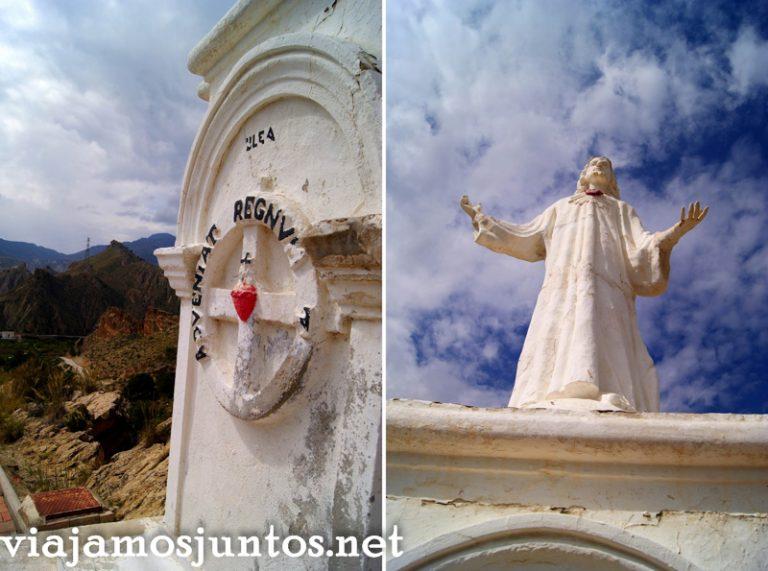 Mirador del Corazón de Jesus, Ulea Ruta en coche por el Valle de Ricote, Murcia. Pasado islámico