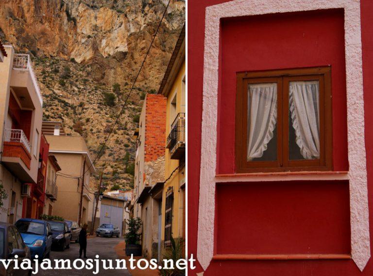 Ulea, detalles y la montaña Ruta en coche por el Valle de Ricote, Murcia. Pasado islámico