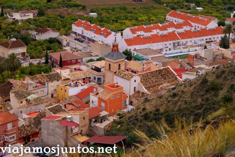 Vistas de Ulea desde arriba Ruta en coche por el Valle de Ricote, Murcia. Pasado islámico