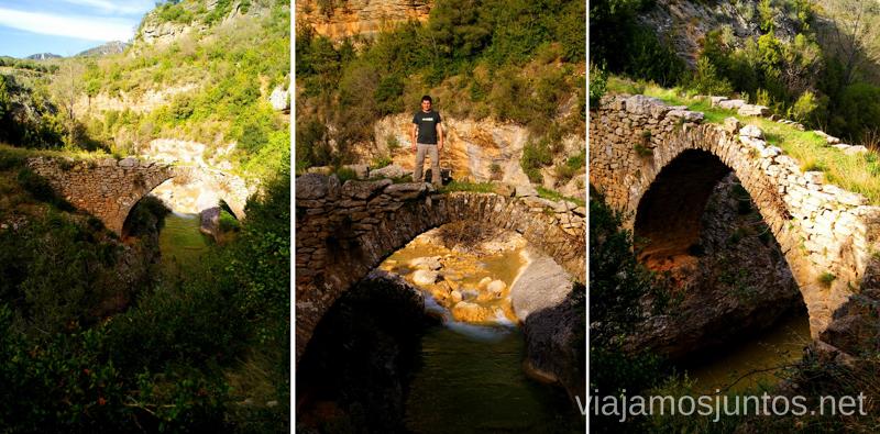 El Puente Las Cabras Ruta circular Camping el Puente - Rodellar. Huesca, Aragón.