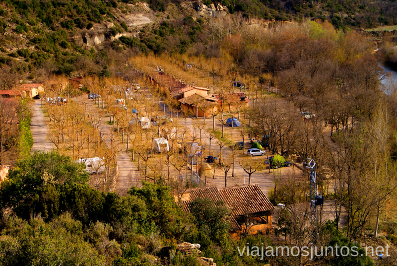 Nuestro camping El Puente Ruta circular Camping el Puente - Rodellar. Huesca, Aragón.
