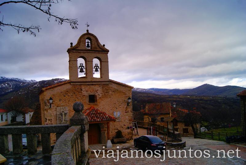 Iglesia desde la terraza, La Hiruela Pueblos con encanto de la Sierra Norte de Madrid, Puebla de la Sierra, la Hiruela