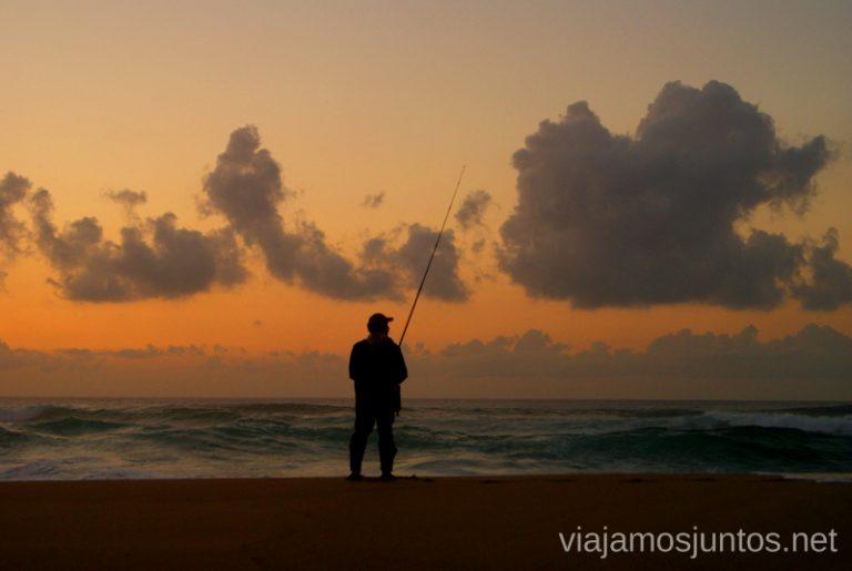 Pescadores de la playa de Carnota Mejores playas de la Península Ibérica