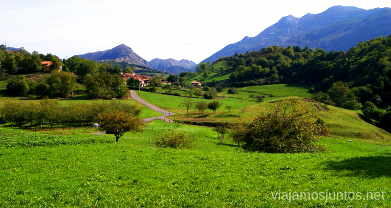 Paisaje asturiano Asturias, que hacer, donde ir; montaña, playa, pueblos con encanto
