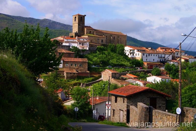 Vistas de Hervás desde una carretera Hervás, Extremadura, que ver y hacer. Pueblos con encanto