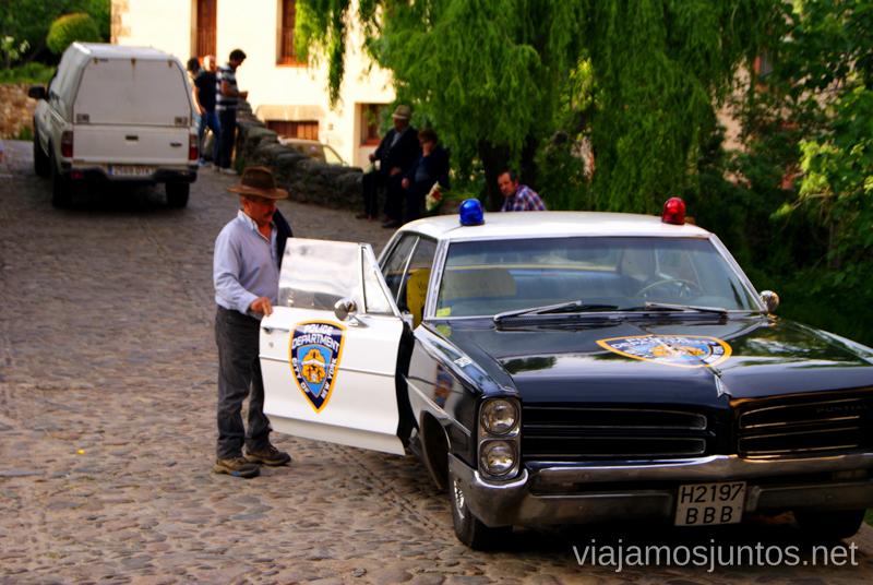 Coche de policía Hervás, Extremadura, que ver y hacer. Pueblos con encanto