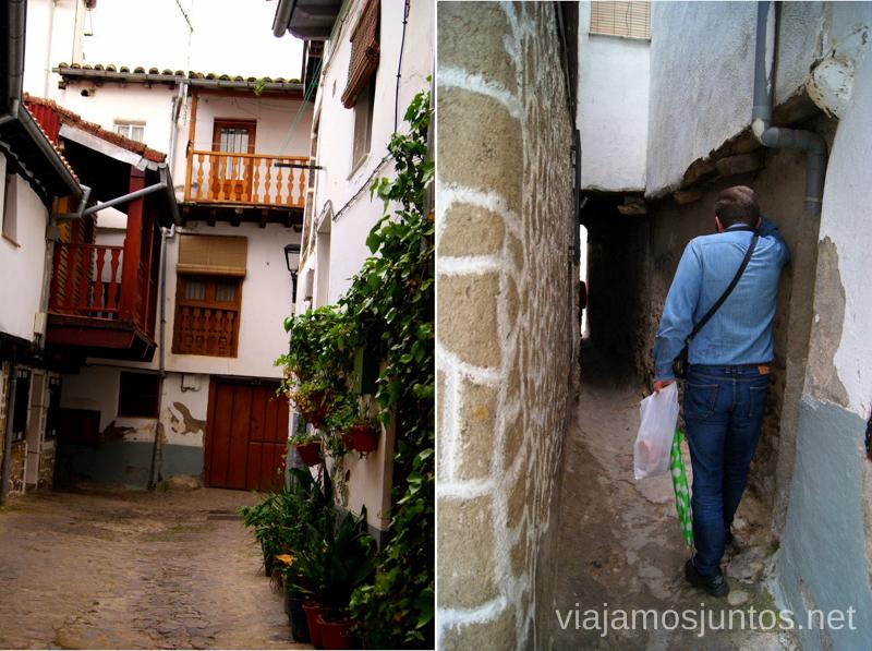 La calle más estrecha... por lo menos de Hervás Hervás, Extremadura, que ver y hacer. Pueblos con encanto