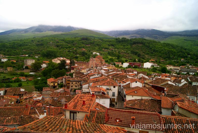 Vistas de Hervás desde la iglesia de Santa María Hervás, Extremadura, que ver y hacer. Pueblos con encanto