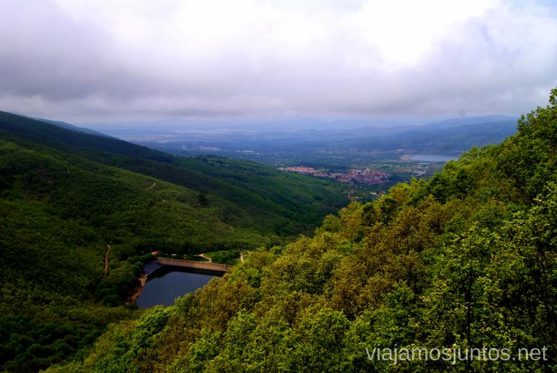 Desde el mirador Ruta de la Chorrera, Hervás, Extremadura.