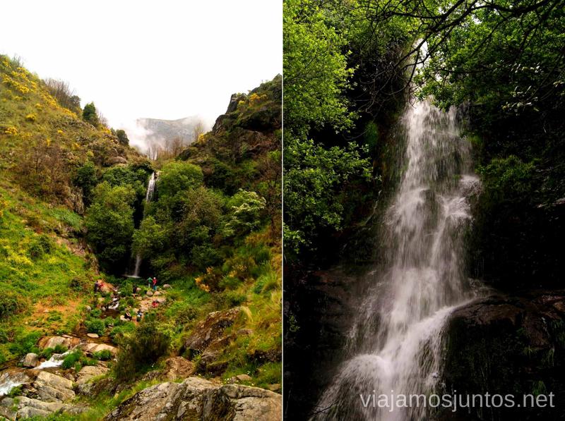 La cascada Ruta de la Chorrera, Hervás, Extremadura.