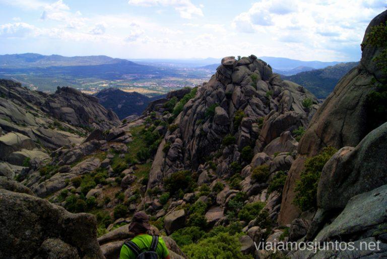 Todo lo que tenemos que descender Ruta circular por La Pedriza, Parque Regional de la Cuenca Alta del Manzanares, Madrid