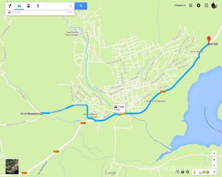 Parking Canto Cochino Como llegar Parque de la Cuenca Alta del Manzanares y Manzanares el Real, Madrid
